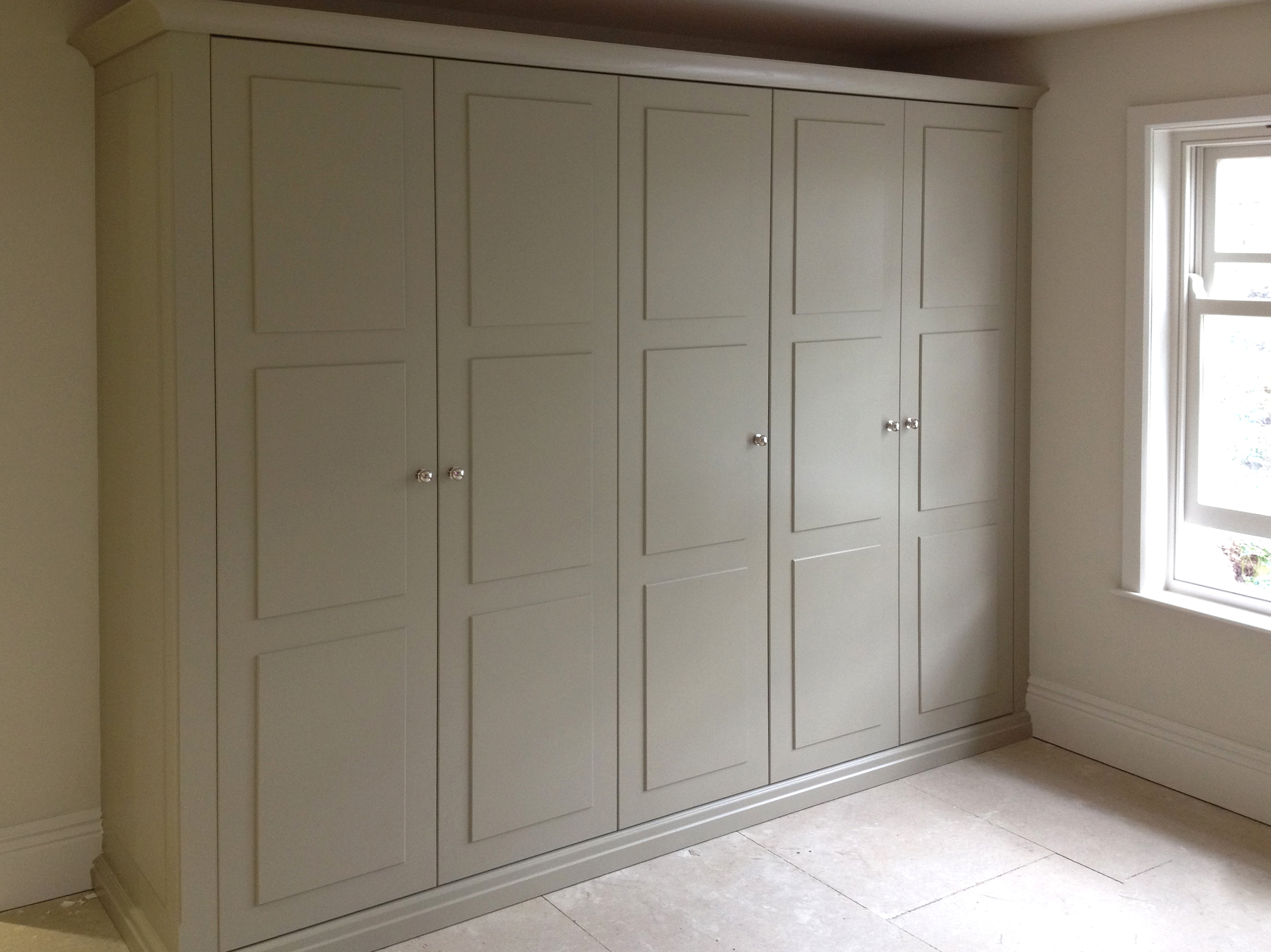 interiors portfolio grey pannelled abello wardrobes wardrobe bed panelled